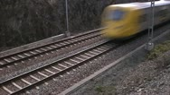 A train passing by, Stockholm Stock Footage