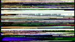 VHS noise on the greenscreen Stock Footage