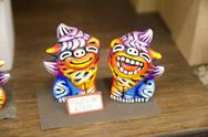 Okinawan Shisa figurines, a traditional protective god. Stock Photos