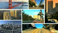 Montage view of San Francisco city  Stock Footage