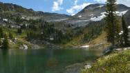 Alpine Mountain Lake Cloud timelapse Stock Footage