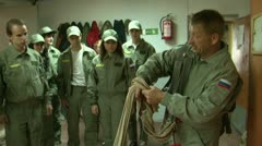 Training of parachuters Stock Footage