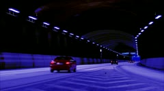 Cars driving in a tunnel, Stockholm Stock Footage