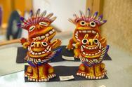 Okinawan Shisa figurines, a traditional protective god. Stock Photos