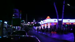 Magaluf, Majorca by night Stock Footage
