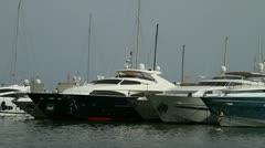 Yachts in Palma, Majorca Stock Footage