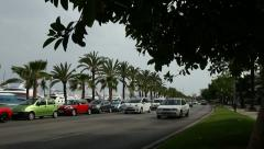 Cars in Palma, Majorca Stock Footage