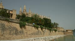 The cathedral in Palma, Majorca Stock Footage
