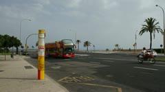 Tourist bus in Palma, Majorca Stock Footage