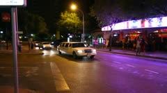 White limousine Stock Footage