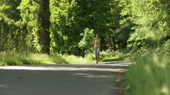 Scandinavian woman jogging Stock Footage