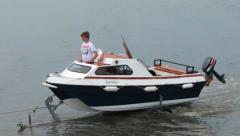 Leisure Boat B Stock Footage