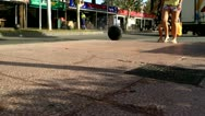 Street in Magaluf, Majorca, time-lapse Stock Footage