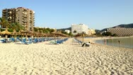 Palmanova beach, Majorca, time-lapse Stock Footage