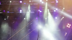 Spotlight of a concert stage - stock footage