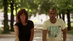 A couple playing boule Stock Footage