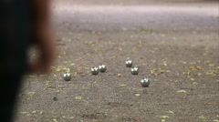 People playing boule in a park, Stockholm Stock Footage