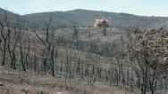 Luxury house survived mountain wildfire P HD 0978 Stock Footage