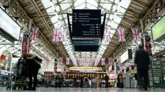 Victoria Station, London (timelapse) Stock Footage