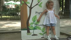 Child Playing and Checking her Tall, Mother Measuring Little Girl Tall, Children Stock Footage