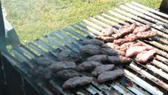 TURKISH STYLE GRILL (mangal) Stock Footage