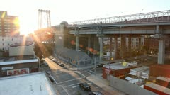 Williamsburg Bridge Timelapse Stock Footage