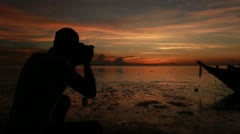 Landscape Photographer at Work Stock Footage