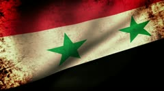 Stock Video Footage of Syria Flag Waving, grunge look
