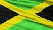 Waving national flag of Jamaica Stock Footage