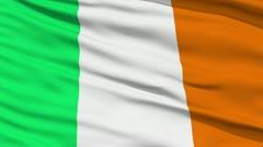 Waving national flag of Ireland - stock footage