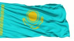 Waving national flag of Kazakhstan - stock footage