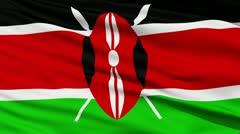 Waving national flag of Kenya - stock footage