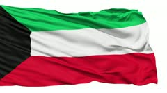 Stock Video Footage of Waving national flag of Kuwait