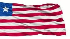 Waving national flag of Liberia - stock footage