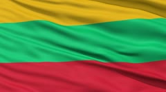 Waving national flag of Lithuania - stock footage