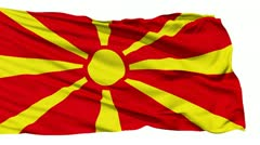 Waving national flag of Macedonia - stock footage