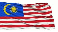 Waving national flag of Malaysia - stock footage