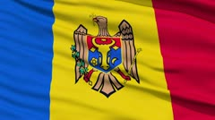 Waving national flag of Moldova - stock footage
