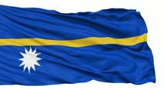 Waving national flag of Nauru - stock footage