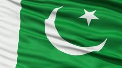 Waving national flag of Pakistan - stock footage