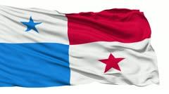 Waving national flag of Panama - stock footage