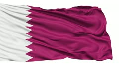 Waving national flag of Qatar - stock footage