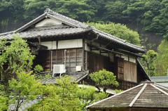 Old traditional Japanese house - stock photo
