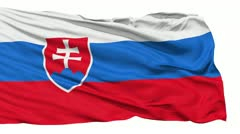 Waving national flag of Slovakia - stock footage