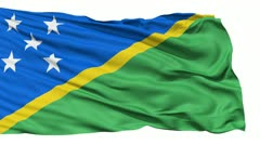 Waving national flag of Solomon Islands - stock footage