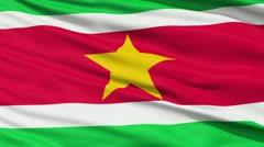 Waving national flag of Suriname - stock footage