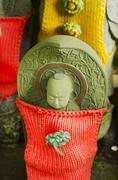 Japanese stone figures - stock photo