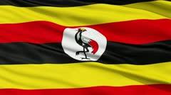 Waving national flag of Uganda - stock footage