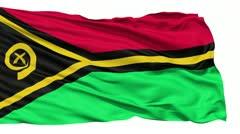 Waving national flag of Vanuatu - stock footage