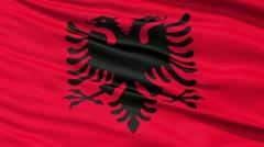 Waving national flag of Albania - stock footage